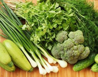 Зеленые овощи для здоровья